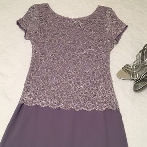 Lavender lace mother of the bride dress